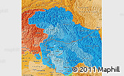 Political Shades Map of Jammu and Kashmir