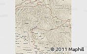 Shaded Relief Map of Jammu and Kashmir