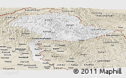 Classic Style Panoramic Map of Jammu and Kashmir