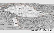 Gray Panoramic Map of Jammu and Kashmir