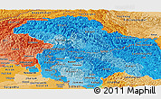 Political Shades Panoramic Map of Jammu and Kashmir