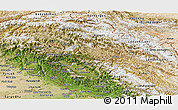 Satellite Panoramic Map of Jammu and Kashmir