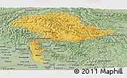 Savanna Style Panoramic Map of Jammu and Kashmir