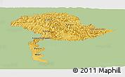 Savanna Style Panoramic Map of Jammu and Kashmir, single color outside