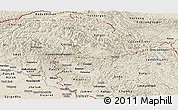 Shaded Relief Panoramic Map of Jammu and Kashmir