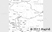 Blank Simple Map of Jammu and Kashmir