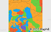 Political Simple Map of Jammu and Kashmir