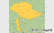 Savanna Style Simple Map of Jammu and Kashmir