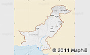 Classic Style Map of Pakistan, single color outside
