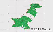 Flag Map of Pakistan, flag aligned to the middle