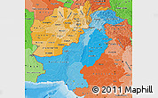 Political Shades Map of Pakistan