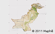 Satellite Map of Pakistan, cropped outside