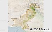 Satellite Map of Pakistan, lighten