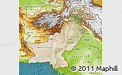 Satellite Map of Pakistan, physical outside, satellite sea