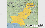 Savanna Style Map of Pakistan