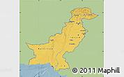 Savanna Style Map of Pakistan, single color outside