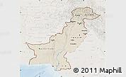 Shaded Relief Map of Pakistan, lighten
