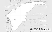 Silver Style Simple Map of Chitral