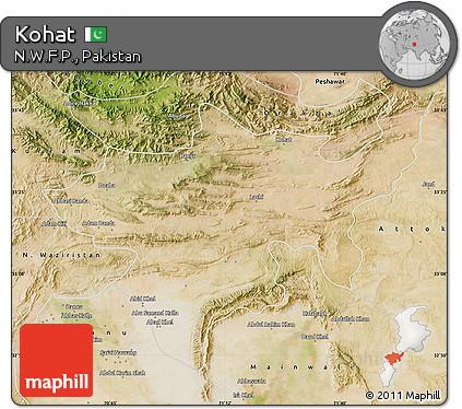 Free Satellite Map Of Kohat - Kohat map