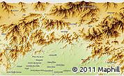 Physical 3D Map of Malakand P.A.