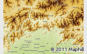Physical Map of Malakand P.A.