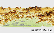 Physical Panoramic Map of Malakand P.A.