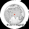 Outline Map of Mardan