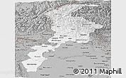 Gray Panoramic Map of N.W.F.P.
