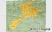 Savanna Style Panoramic Map of N.W.F.P.