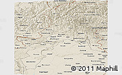 Shaded Relief Panoramic Map of N.W.F.P.