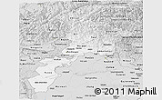 Silver Style Panoramic Map of N.W.F.P.
