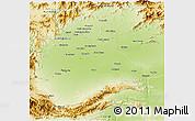 Physical 3D Map of Peshawar