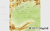 Physical Map of Peshawar