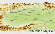 Physical Panoramic Map of Peshawar