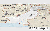 Classic Style Panoramic Map of Pakistan