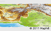 Physical Panoramic Map of Pakistan
