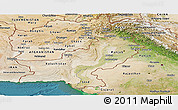 Satellite Panoramic Map of Pakistan