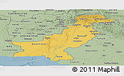 Savanna Style Panoramic Map of Pakistan