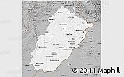 Gray 3D Map of Punjab