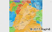 Political Shades 3D Map of Punjab