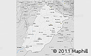 Silver Style 3D Map of Punjab