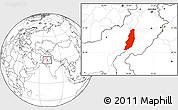 Blank Location Map of Dera Ghazi Khan