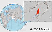 Gray Location Map of Dera Ghazi Khan