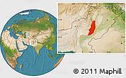 Satellite Location Map of Dera Ghazi Khan