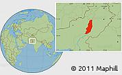 Savanna Style Location Map of Dera Ghazi Khan