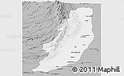 Gray Panoramic Map of Dera Ghazi Khan