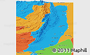 Political Panoramic Map of Dera Ghazi Khan