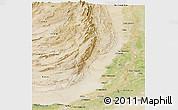 Satellite Panoramic Map of Dera Ghazi Khan