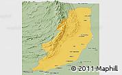 Savanna Style Panoramic Map of Dera Ghazi Khan