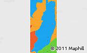 Political Simple Map of Dera Ghazi Khan